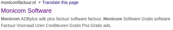 Merkinbreuk in meta tag op monicomfactuur.nl
